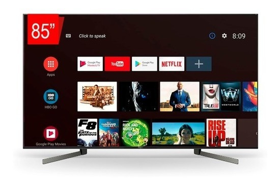 Tv Led Sony 85 Xbr-85x955g Smart Uhd 4k, Android Tv