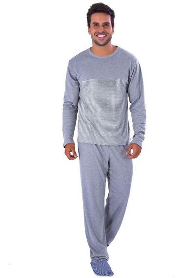 Roupa De Dormir Masculina De Inverno Longo Pijama De Frio