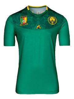 Camisa Do Camarões Oficial Futebol 2020 Garanta Logo