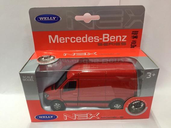 Welly Mercedes Benz 1:36 Sprinter Panel Van Pull Back Metal