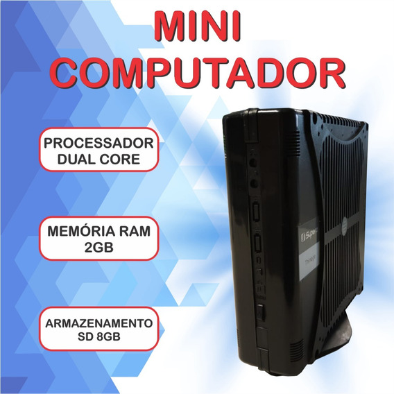 Mini Computador Supera Ultra Slim C/ Windows 7 + Office Hdmi