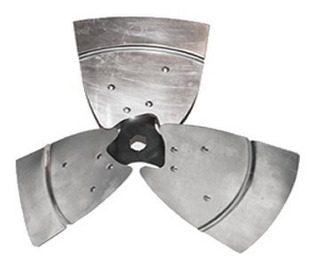 Helice Aspa 3 Palas Metalica 24 Con Buje 1/2