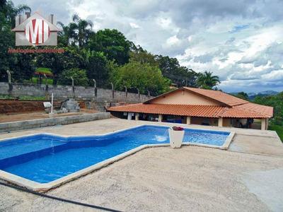 Chácara No Alto Com Linda Vista, 03 Dormitórios À Venda, 1000 M² Por R$ 250.000 - Zona Rural - Pinhalzinho/sp - Ch0035