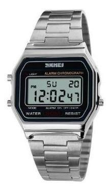 Relógio Unissex Skmei Digital 1123 Prata Prova D