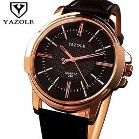Relógio Quartz Yazole 358 Original, Frete Grátis