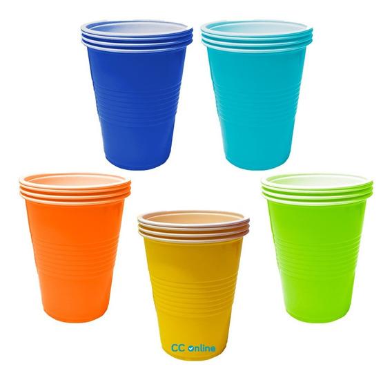 Vasos Plástico X 50 Beer Pong 300 Ml Colores - Cc-online