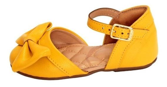 Sandalia Amarela Para Bebe Criança De Colo Rasteira Amarelo