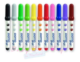 Super Marcadores Giotto Bebe 12 Colores Gruesos - No Toxico