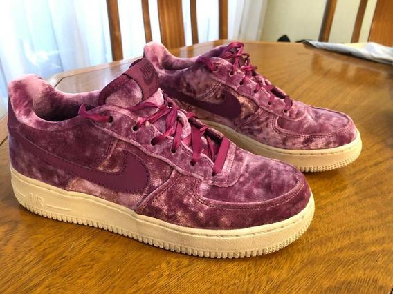 Nike Air Force 1 Gamuza Violetas Como Nuevas