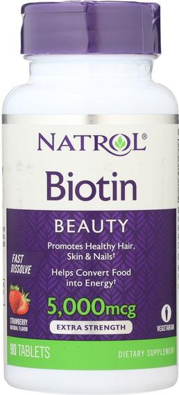 Biotina, Crecimiento Del Cabello - Envio Gratis