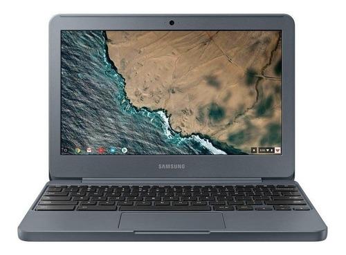 "Notebook Samsung Chromebook XE501C13 grafite 11.6"", Intel Celeron N3060 4GB de RAM 32GB SSD, Intel HD Graphics 400 1366x768px Google Chrome"