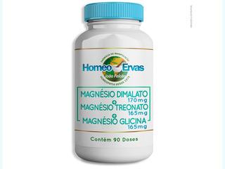 Magnésio Dimalato 170mg+treonato165mg+glicina 165mg 90 Doses