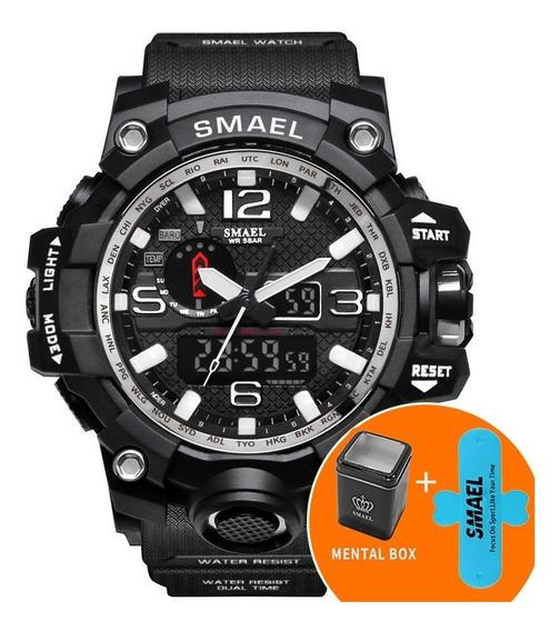 Relógio Masculino Esport Militar Dual Time Analógico Digital