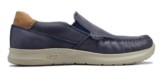 Zapatos Mocasines Cuero Marsanto Phil Azul. Store Oficial