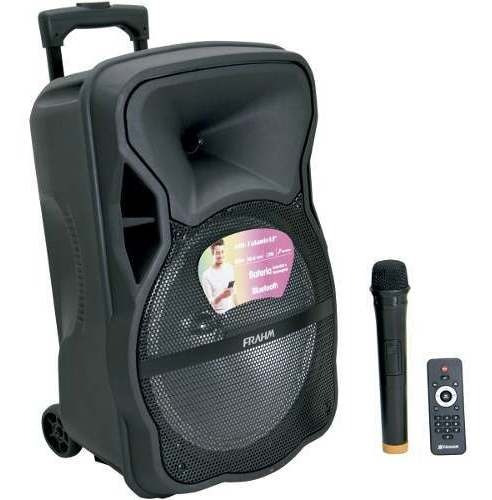 Caixa Som 600w Mp3 Amplificada Usb Microfone Karaokê Auxilia