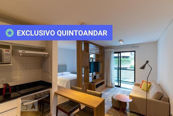 Studio No 1º Andar Mobiliado Com 1 Dormitório E 1 Garagem - Id: 892968005 - 268005