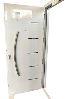 Puerta Doble Chapa Inyectada De Seguridad Al Horno 80x200