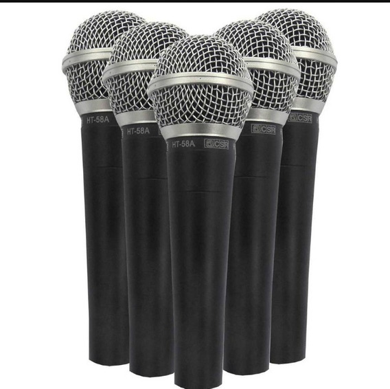 Microfone Csr58 Kit 5 Peças Shure Sm58 Leson Akg Tsi Karsect
