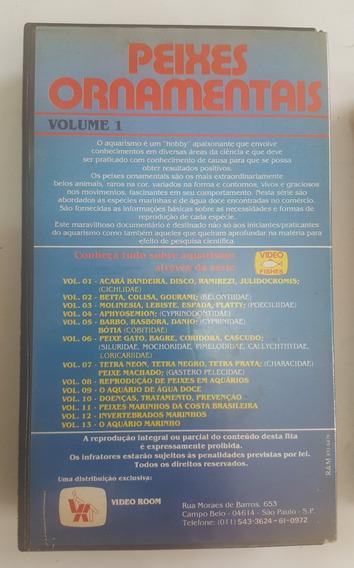 Vhs - Peixes Ornamentais Vol. 1 - Cesar Maeda