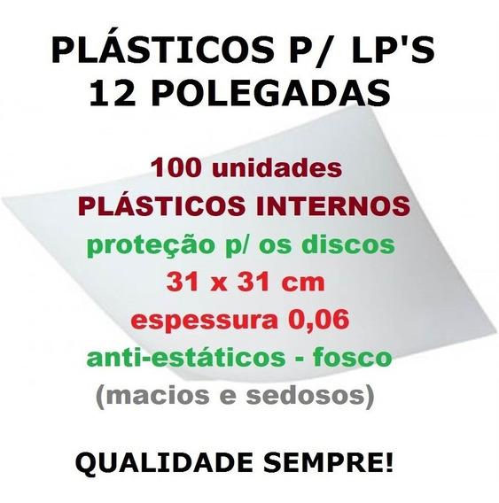 100 Plásticos Internos 0,06 P/ Proteção De Lp Discos Vinil