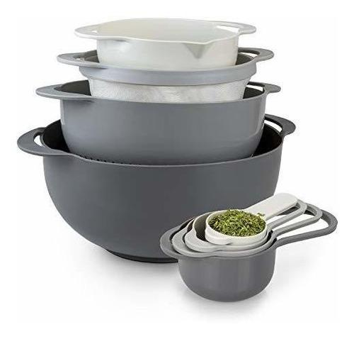 Cocine Con Cuencos De Color De 8 Piezas Con Copas Medidoras