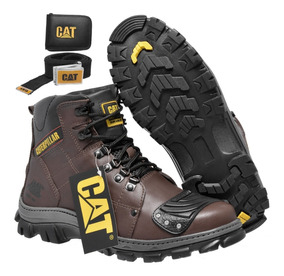Kit Bota Motociclista Coturno Cat Original Caterpillar Masc.