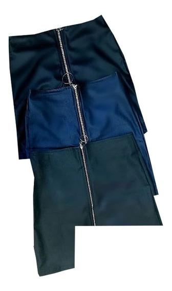 Falda Corta Para Dama Diseño Con Cierre Pr.s