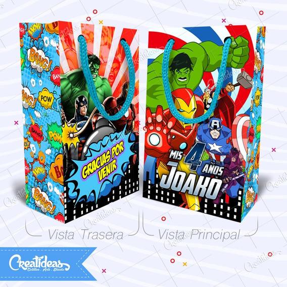 Superheroes Comics Bolsitas Personalizada Pack X30