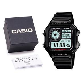 Relógio Casio Ae-1200wh-1a Digital Original C/ Caixa E Nf