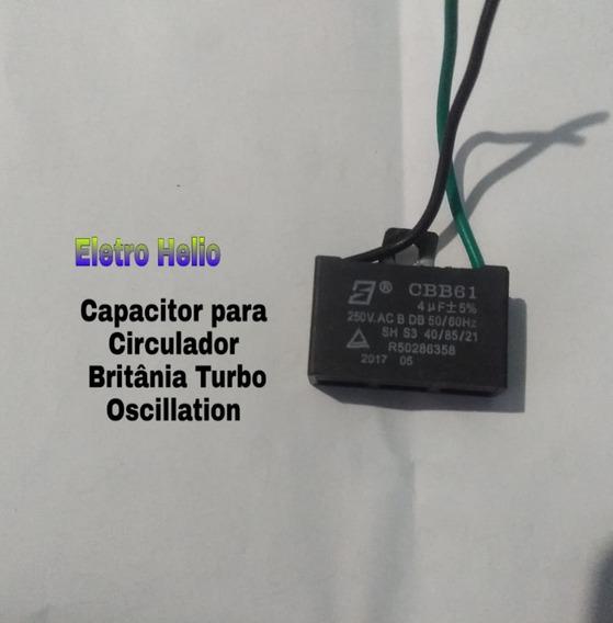 Capacitor Para Circulador Britânia Turbo Oscillation