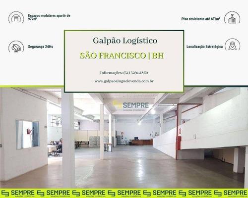 Imagem 1 de 29 de Galpão À Venda, 972 M² - São Francisco - Belo Horizonte/mg - Ga0582
