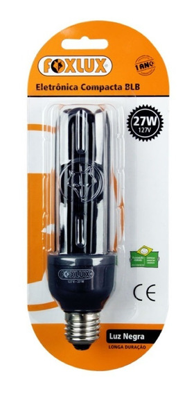 Lampada Compacta Luz Negra 27w 220v Foxlux-3unidades