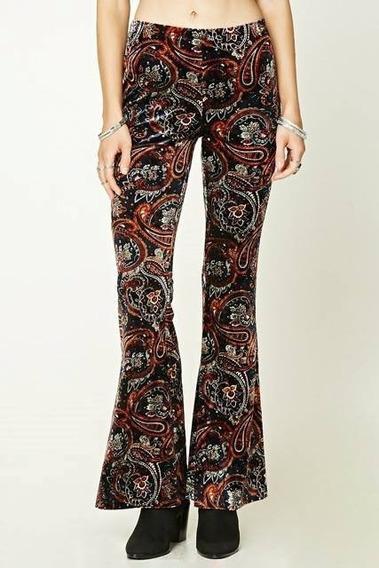 Pantalon Forever 21 Terciopelo Oxford Talle M De Usa - 7057