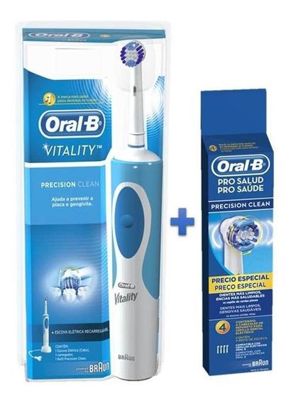 Escova Elétrica Oral-b Vitality D12 110v + Refil 4 Unidades