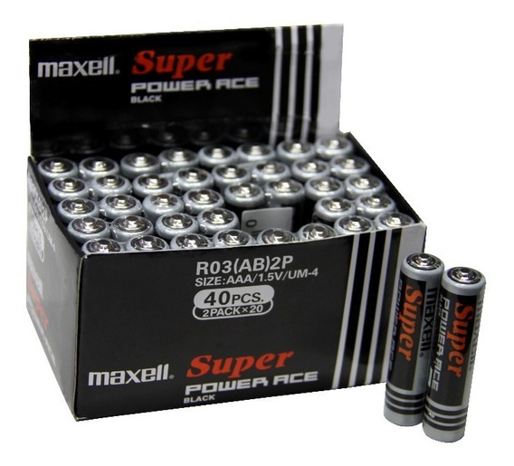 Pack 40 Pilas Aaa Triple A Maxell Ultra (carbón)