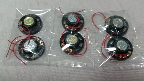 Mini Auto Falante 8 Ohms -0,25 Watt-29 Mm (kit 6 Und) Cod 03