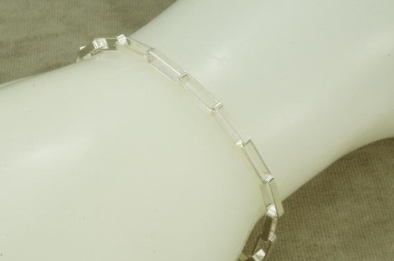 Conjunto Corrente + Pulseira Cadeado Masculina 70 Cm (g20,6) Prata 925