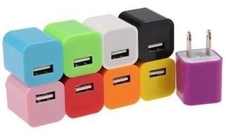 Cargador Cubo Taco De Pared Usb Para Telefonos (1.50)
