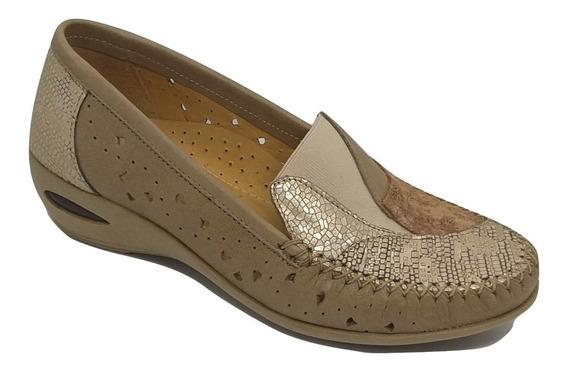 Zapato Pies Delicados Calado Cuero Alma