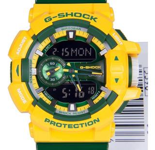 Reloj Casio G-shock Ga 400cs 9adr Verde Y Amarillo Sumergibl