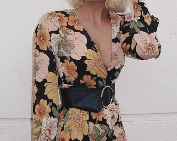 Vestido Longo Florido Forever 21