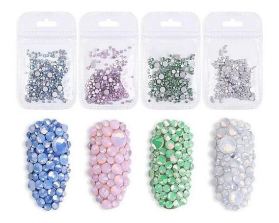 Paquete De Cristales Opalo Mixtos Nuevo Manicure Decoracion