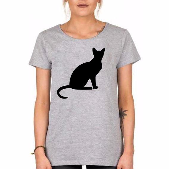 Remera Gato Negro Silueta Black Cat Witch Somos Local Envios