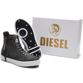 Tênis Bota Diesel Lançamento- Sapato Casual Em Couro