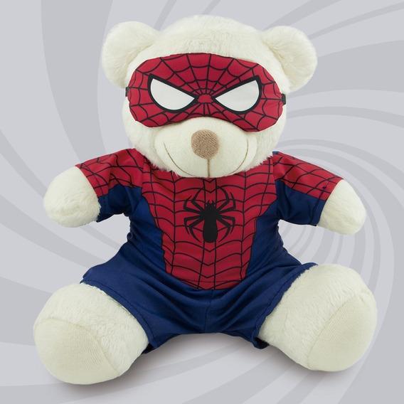 Ursinho Super Herói Fantasia Homem Aranha 20cm