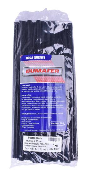 Cola Quente Em Bastão 11,2mm X 300mm Preta Bumafer 1kg