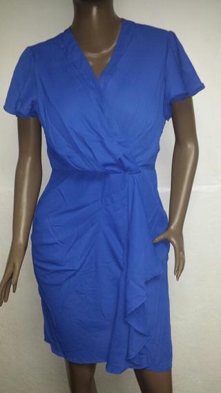 Vestido Elegante Corto Azul