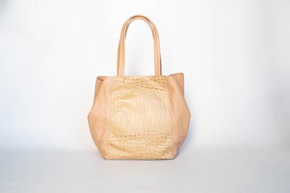 Cartera De Cuero Shopping Bag