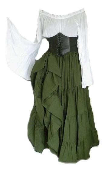 Womens Renaissance Costumes Irish Over Dresses Victorian Ret