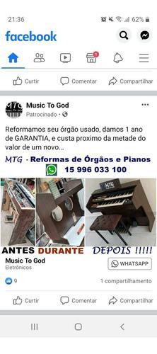 Imagem 1 de 1 de Reformas De Órgãos E Pianos Eletrônicos